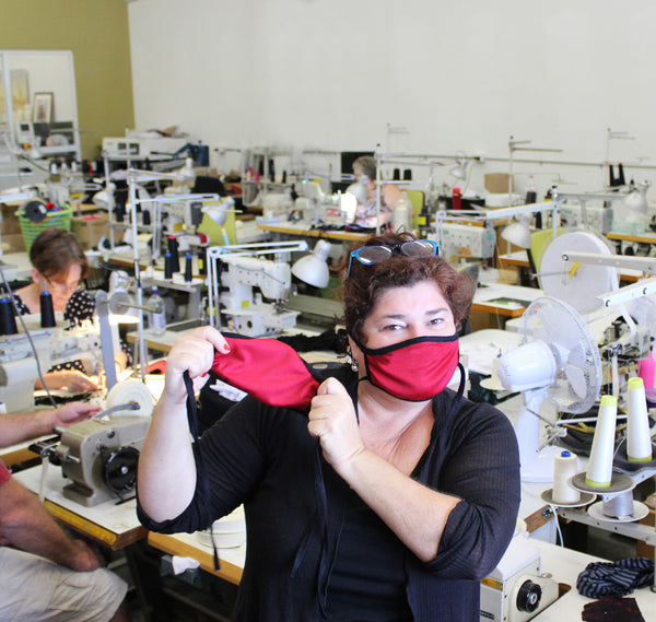 Merino Country Face Mask Production