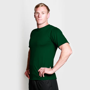 Men's Merino Crew T-shirt Bottle Green