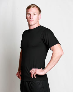 Mens Merino Crew T-Shirt Black