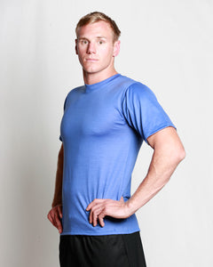 Mens Merino Crew T-Shirt Blue