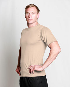 Mens Merino Crew T-Shirt Natural