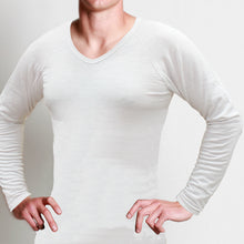 Load image into Gallery viewer, Men's Merino V-neck Long Sleeve Shirt