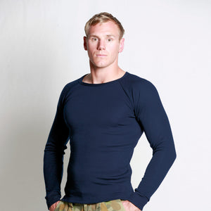 Men's Merino Raglan Shirt Navy
