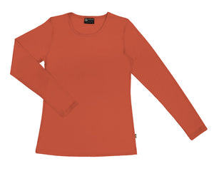 Merino Women's Crew neck T-shirt Orange