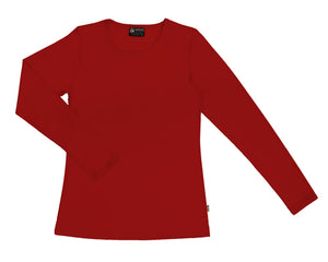Merino Women's Crew neck T-shirt Red