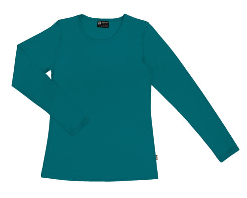 Merino Women's Crew neck T-shirt Teal