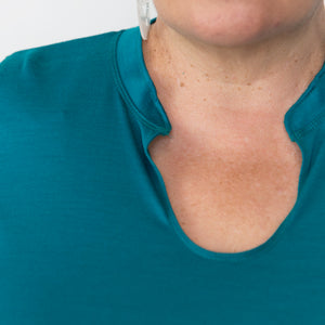 Merino Tunic top detail