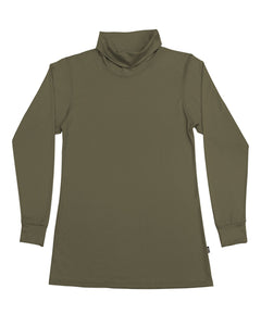 Women's Roll Neck Skivvy Olive