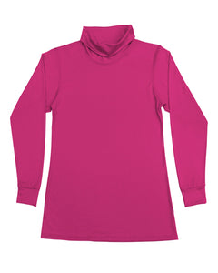 Women's Roll Neck Skivvy Hot Pink