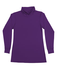 Women's Roll Neck Skivvy Purple