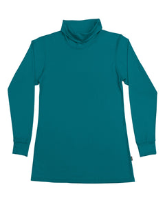 Women's Roll Neck Skivvy Teal