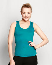 Load image into Gallery viewer, Womens Merino Singlet Teal