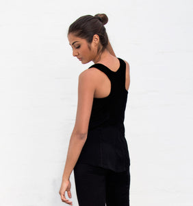 Merino Sports Top with Shelf Bra