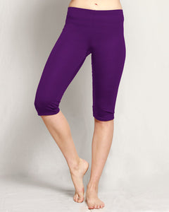 Merino 3/4 Leggings purple