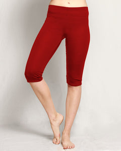 Merino 3/4 Leggings red