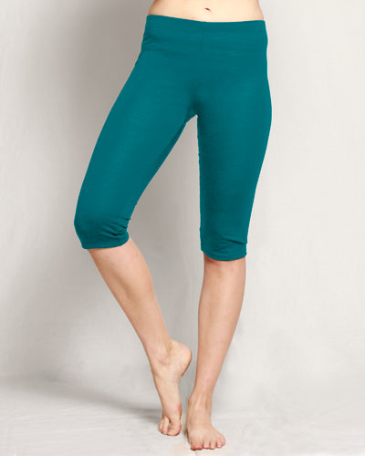Merino 3/4 Leggings teal