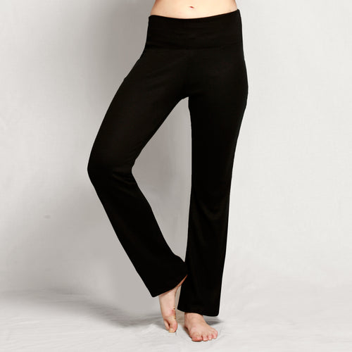 Merino Straight Leg Pants Black