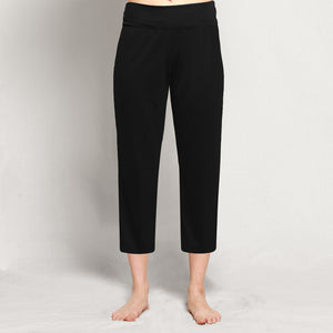 Women's Merino Crop Pants Black