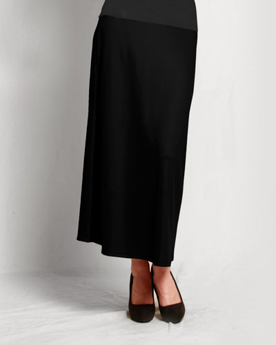 Merino A-line Skirt Black