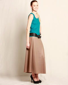 Merino A-line Skirt Taupe