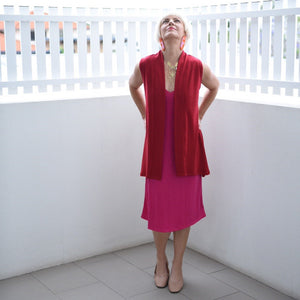Merino Long Shift Dress - Reversible