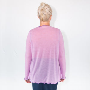 Merino Light Cardigan Lilac