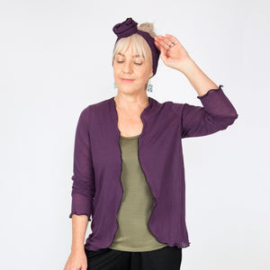 Merino Light Cardigan Purple