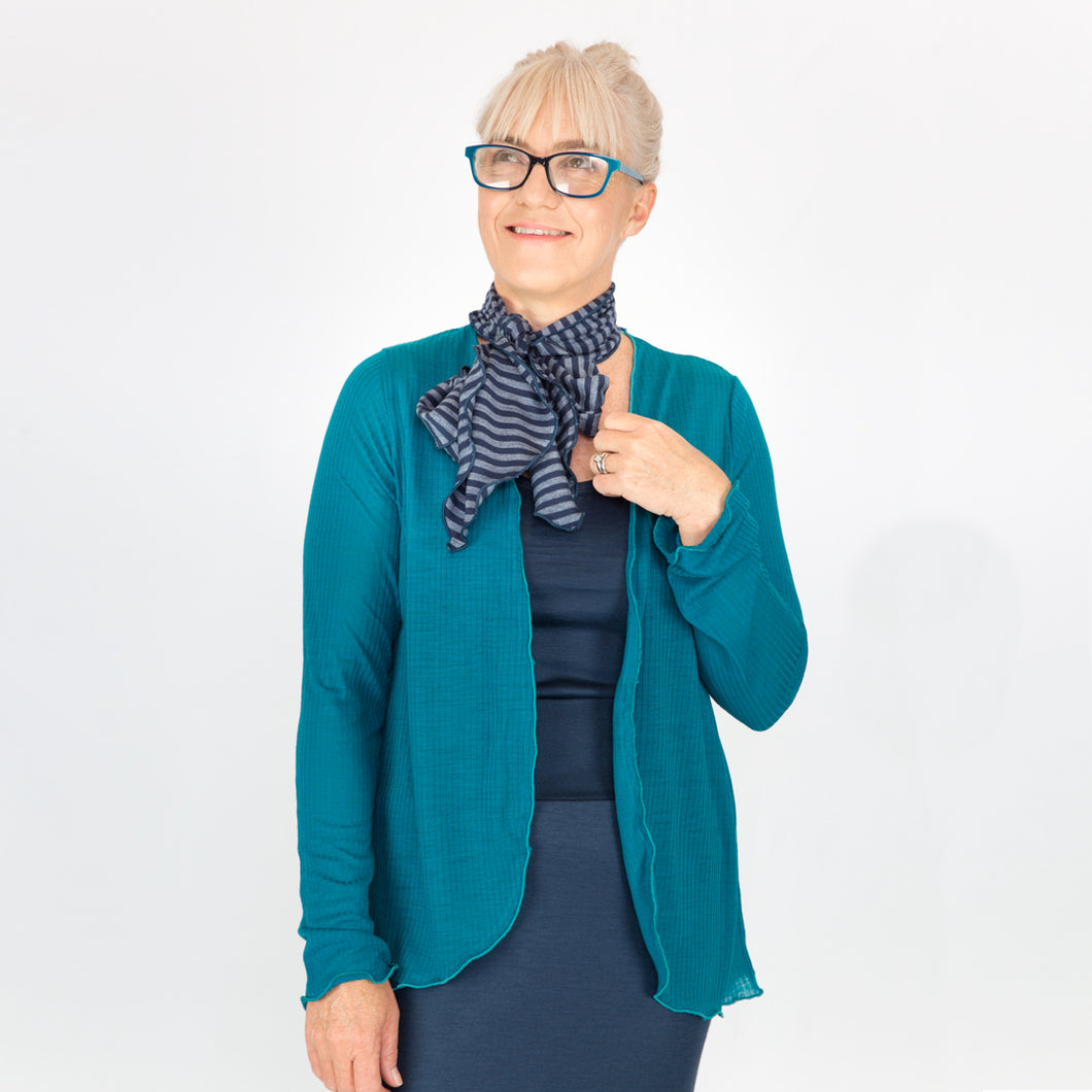 Merino Light Cardigan Teal