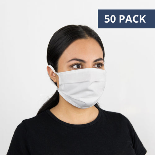 #735x50 50 PACK Three Layer Cotton & Merino Face Mask