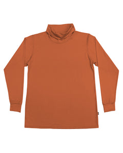 Men's Merino Roll Neck Skivvy - Orange
