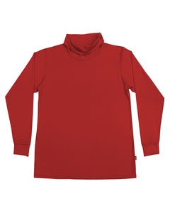Men's Merino Roll Neck Skivvy - Red
