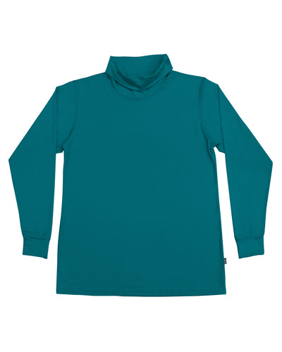 Men's Merino Roll Neck Skivvy - Teal