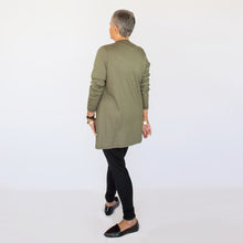 Load image into Gallery viewer, Merino Cardigan Olive