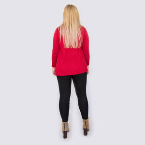 Merino Cardigan Red