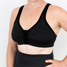 Load image into Gallery viewer, Merino Front Opening Bra Black