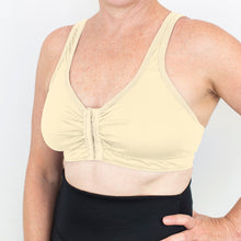 Load image into Gallery viewer, Merino Front Opening Bra Natural