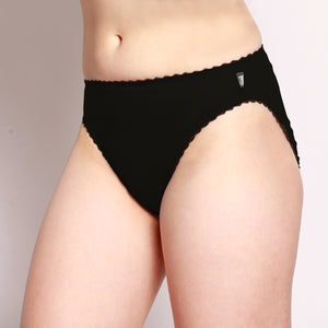 Merino Hi-Cut Briefs Black
