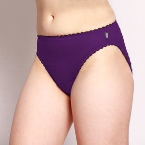 Merino Hi-Cut Briefs Purple