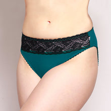 Load image into Gallery viewer, Lace Merino Hipster Briefs Teal