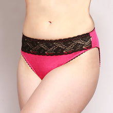 Load image into Gallery viewer, Lace Merino Hipster Briefs Pink