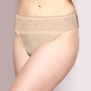 Lace Merino Hipster Briefs Latte