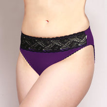 Load image into Gallery viewer, Lace Merino Hipster Briefs Purple