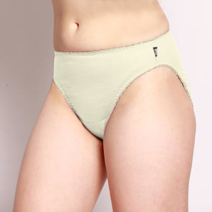 Merino Hi Cut Briefs Natural