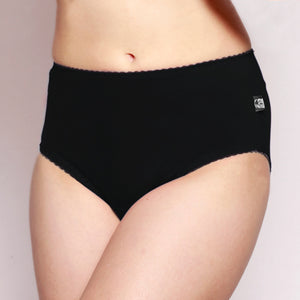 Womens Full Brief Merino underwear black