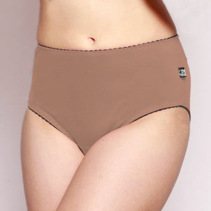 Womens Full Brief Merino underwear Taupe