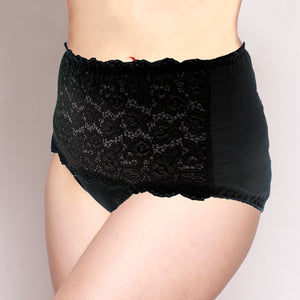 Lace Merino Full Brief Black