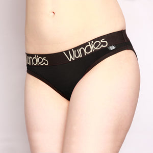 100% Merino Hipster Wundies 3 Pack Black