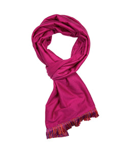 Merino Scarf with Fringing
