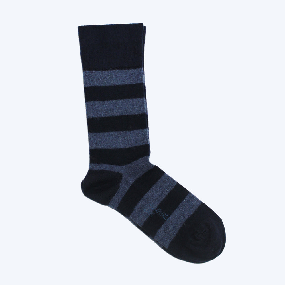 Merino Alpaca Health Sock Navy