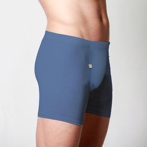 Men's Merino fitted boxer briefs Blue